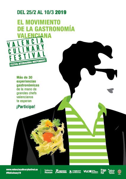 conexo comunicación. diseño cartel valencia culinary festival 2019