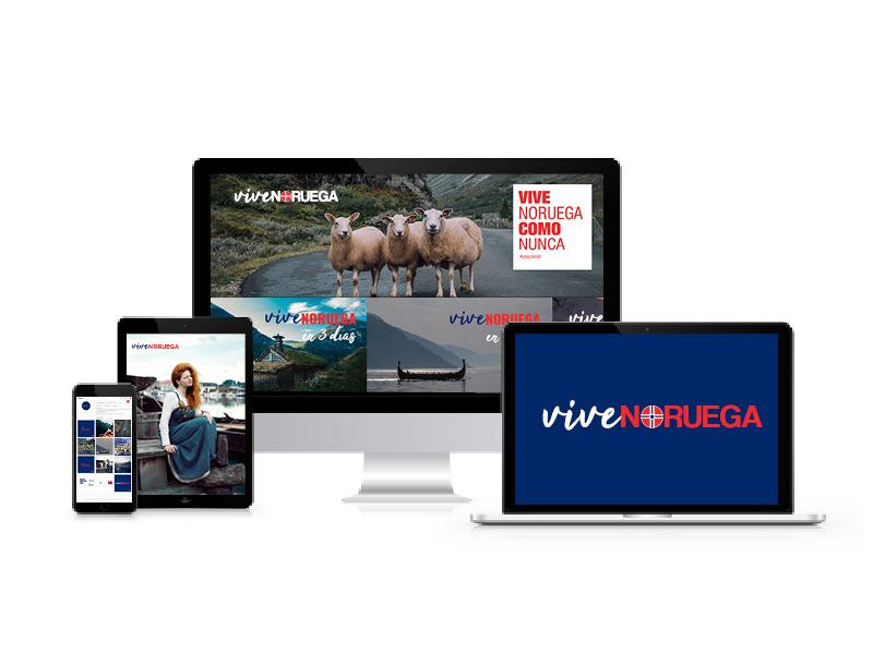 vive noruega. marca, web y redes sociales